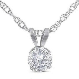 Solitaire round shaped CVD diamond lady necklace p